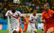 Striker Joel Campbell of Costa Rica plays for the Arsenal FC of the EPL